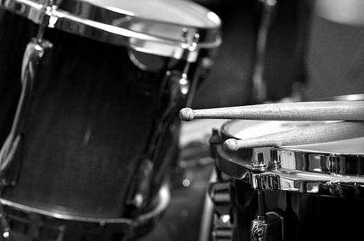 Rebecca Brittain - Drumsticks and Drums in Black and White