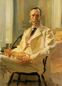 Cecilia Beaux - Man With Cat