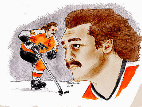 Chris  DelVecchio - Rick MacLeish - color