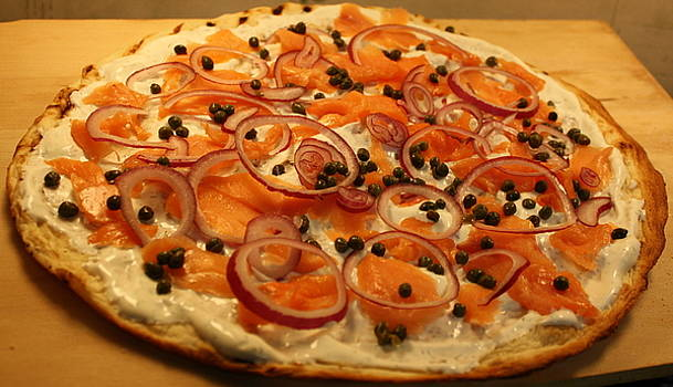 Anne Babineau - smoked salmon pizza