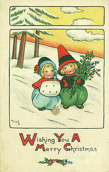 Dale Powell - Vintage 1916 Merry Christmas Postcard