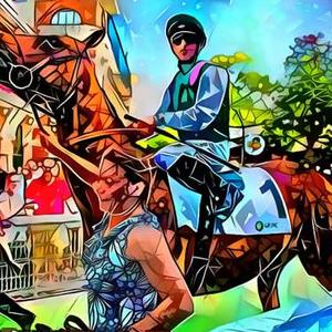 The Thrill of the Horse Race Art Competition