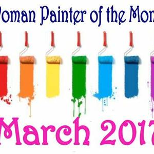Women Painter of the month - MARCH 2017 - Only artworks accepted into the group Art Competition